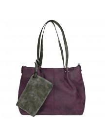 Emily & Noah Bag In Bag Surprise Cityshopper Aubergine / Grey afbeelding