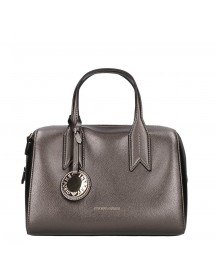 Emporio Armani Faux Leather Top Handle Bag Steel / Black afbeelding