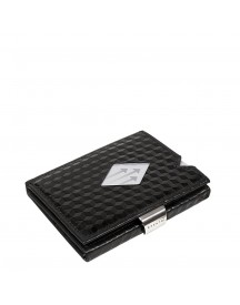 Exentri Leather Leather Wallet Black Cube afbeelding