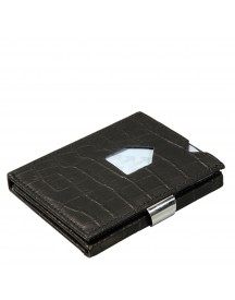 Exentri Leather Wallet Caiman Black afbeelding