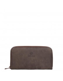Fred De La Bretoniere Hand Buffed Leather Wallet Medium Dark Brown afbeelding