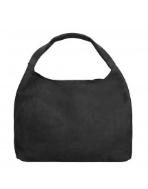 Fred De La Bretoniere Nubuck Leather Handbag Medium Black afbeelding
