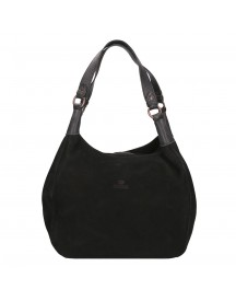 Fred De La Bretoniere Nubuck Leather Shoulderbag Large Black afbeelding