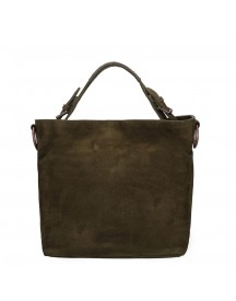 Fred De La Bretoniere Nubuck Leather Shoulderbag Medium Dark Green afbeelding