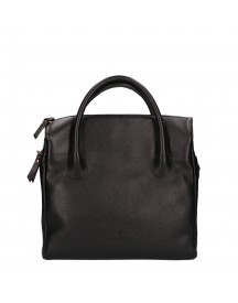 Fred De La Bretoniere Smooth Leather Handbag Medium Black afbeelding