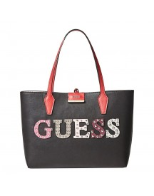 Guess Bobbi Inside Out Tote Black / Nude afbeelding