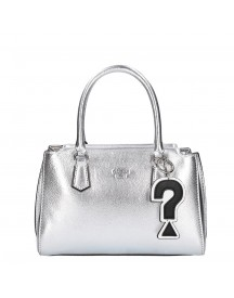 Guess Felix Small Girlfriend Satchel Silver afbeelding