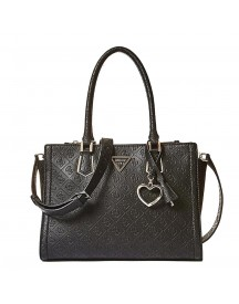 Guess Lyra Society Satchel Black afbeelding