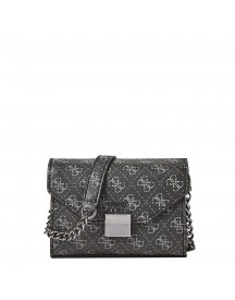 Guess Mia Mini Crossbody Coal afbeelding