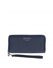 Guess Vikky Slg Large Zip Around Navy afbeelding