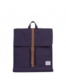 Herschel Supply Co. City Mid-volume Rugzak Purple Velvet/tan Synthetic Leather afbeelding