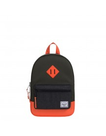 Herschel Supply Co. Heritage Kids Kids Rugzak Forest Night/black Crosshatch/vermillion Orange afbeelding