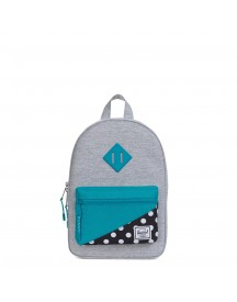 Herschel Supply Co. Heritage Kids Kids Rugzak Light Grey Crosshatch/tile Blue/mini Polka Dot afbeelding