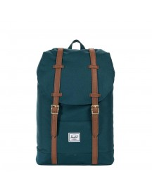 Herschel Supply Co. Retreat Mid-volume Rugzak Deep Teal / Tan Synthetic Leather afbeelding