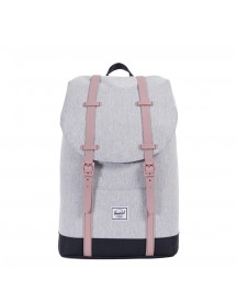 Herschel Supply Co. Retreat Mid-volume Rugzak Light Grey Crosshatch / Ash Rose / Black afbeelding