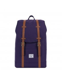 Herschel Supply Co. Retreat Mid-volume Rugzak Purple Velvet/tan Synthetic Leather afbeelding