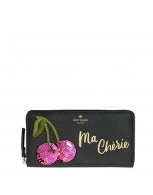 Kate Spade Ma Cherie Applique Lacey Wallet Black Multi afbeelding