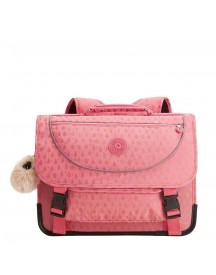Kipling Preppy Schooltas Medium Pink Gold Drop afbeelding