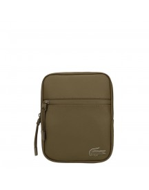 Lacoste Men S Flat Crossover Bag Military Olive afbeelding