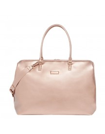 Lipault Miss Plume Weekend Bag M Fl Pink Gold Weekendtas afbeelding