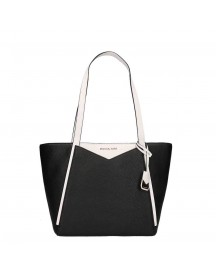 Michael Kors Whitney Top Zip Tote Small Black / White afbeelding