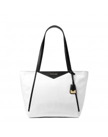 Michael Kors Whitney Top Zip Tote Small Optic White Black afbeelding