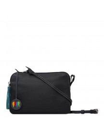 Mywalit Bruges Double Zip Cross Body Black / Grey afbeelding