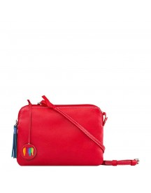 Mywalit Bruges Double Zip Cross Body Red afbeelding