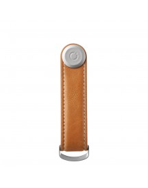 Orbitkey Premium Leather 2.0 Keyholder Tan / White afbeelding