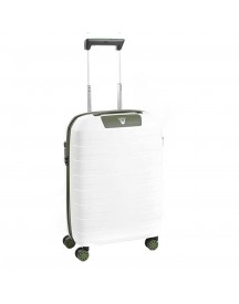 Roncato Box 2.0 4 Wiel Cabin Trolley 55 Verde Militare / Bianco Harde Koffer afbeelding