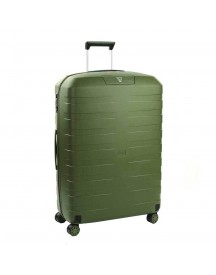 Roncato Box 2.0 4 Wiel Trolley Large 78 Verde Militare Harde Koffer afbeelding