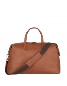 Sandqvist Holly Leather Leather Weekend Bag Cognac Weekendtas afbeelding