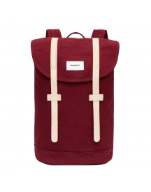 Sandqvist Stig Backpack Burgundy Natural afbeelding