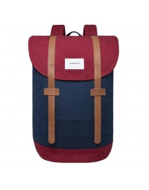 Sandqvist Stig Backpack Multi Blue / Burgundy afbeelding