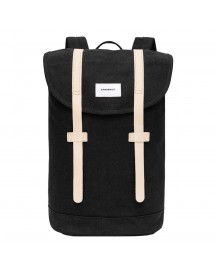 Sandqvist Stig Large Backpack Black Natural afbeelding