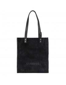 Shabbies Amsterdam Suede Shoppingbag Medium Dark Blue afbeelding