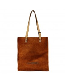 Shabbies Amsterdam Suede Shoppingbag Medium Orange afbeelding