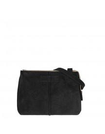 Shabbies Amsterdam Waxed Grain Leather Crossbody Small Black afbeelding