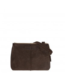 Shabbies Amsterdam Waxed Grain Leather Crossbody Small Dark Brown afbeelding