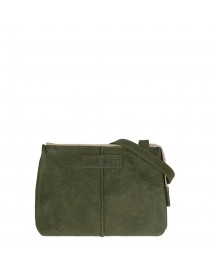Shabbies Amsterdam Waxed Grain Leather Crossbody Small Dark Green afbeelding
