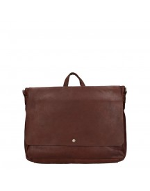 Spikes & Sparrow Bronco Laptoptas Dark Brown afbeelding