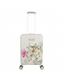 Suitsuit English Garden Trolley 55 White Harde Koffer afbeelding