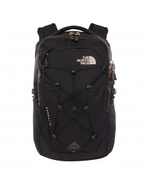 The North Face Womens Borealis Backpack Tnf Black Heather / Burnt Coral Metallic afbeelding