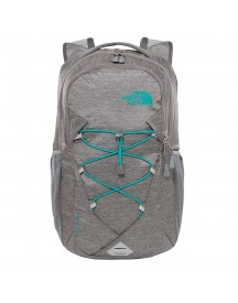 The North Face Womens Jester Backpack Zinc Grey Light Heather/kokomo Green afbeelding