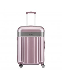 Titan Spotlight Flash 4 Wiel Trolley M Wild Rose Harde Koffer afbeelding