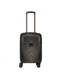 Travelbags Londen 4 Wheel Trolley 55 Black Harde Koffer afbeelding