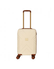 Travelbags Parijs 4 Wheel Trolley 55 Off White Harde Koffer afbeelding