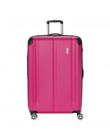Travelite City 4 Wiel Trolley L Expandable Berry Harde Koffer afbeelding