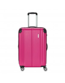 Travelite City 4 Wiel Trolley M Expandable Berry Harde Koffer afbeelding