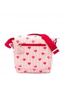Zebra Trends Girls Flaptasje Stripes/hearts/red Kindertas afbeelding